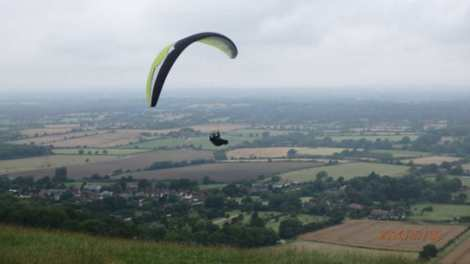 Paragliding from Devil's Dyke