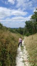 climbing Ditchling Beacon