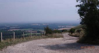 Ditchling Beacon looking towards Plumpton