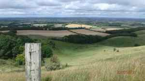 South Downs towards Lewes