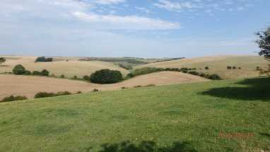 Stanmer Down looking towards Ditchling Beacon