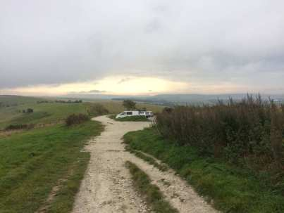 Ditchling BEacon, looking east towards Firle