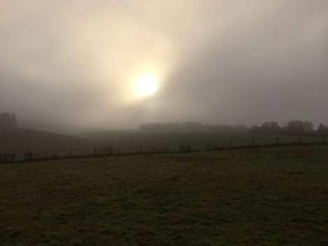Sunrise over Piper's Hill