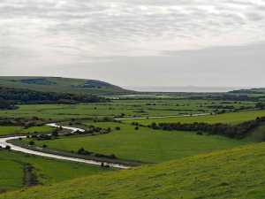 The Cuckmere Valley towards the sea