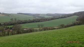 Misty Chiltern valley, West Wycombe
