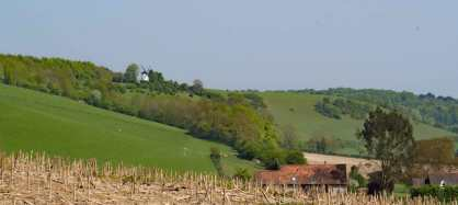 Turville Windmill and the Turville Valley