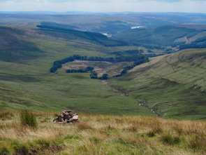 From Pen-y-Fan towards Pentwyn Reservoir