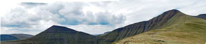 Pen-y-fan & Cribyn from Cum Gwdi