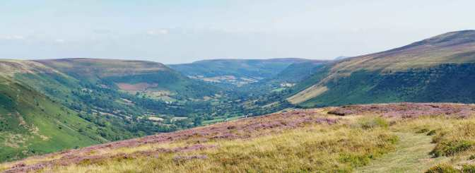 View from Darren Lwyd towards Capel-y-ffin & Llanthony