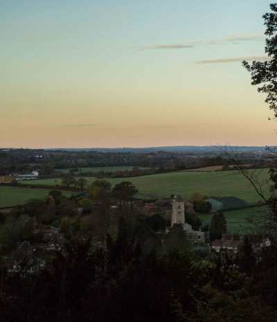 Aldbury from Ashridge