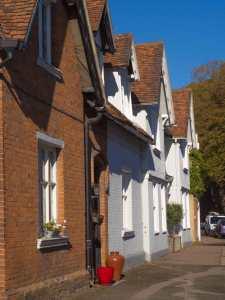 Red pots, High Street, Much Hadham